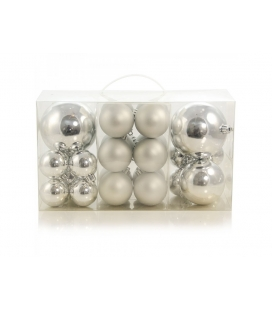 BOX 24 PALLINE ASSORTITE ARGENTO