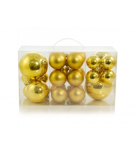 BOX 24 PALLINE ASSORTITE ORO